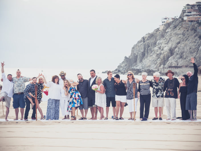 Group Wedding photography in Cabo San Lucas